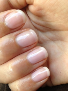 French Manucure Nude OPI 2
