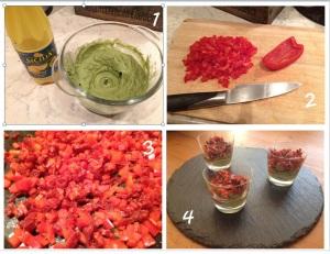 Verrines Avocat Chorizo Poivron - Its her mess 2