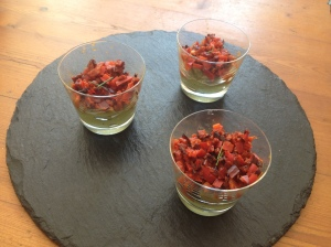 Verrines Avocat Chorizo Poivron - Its her mess 3