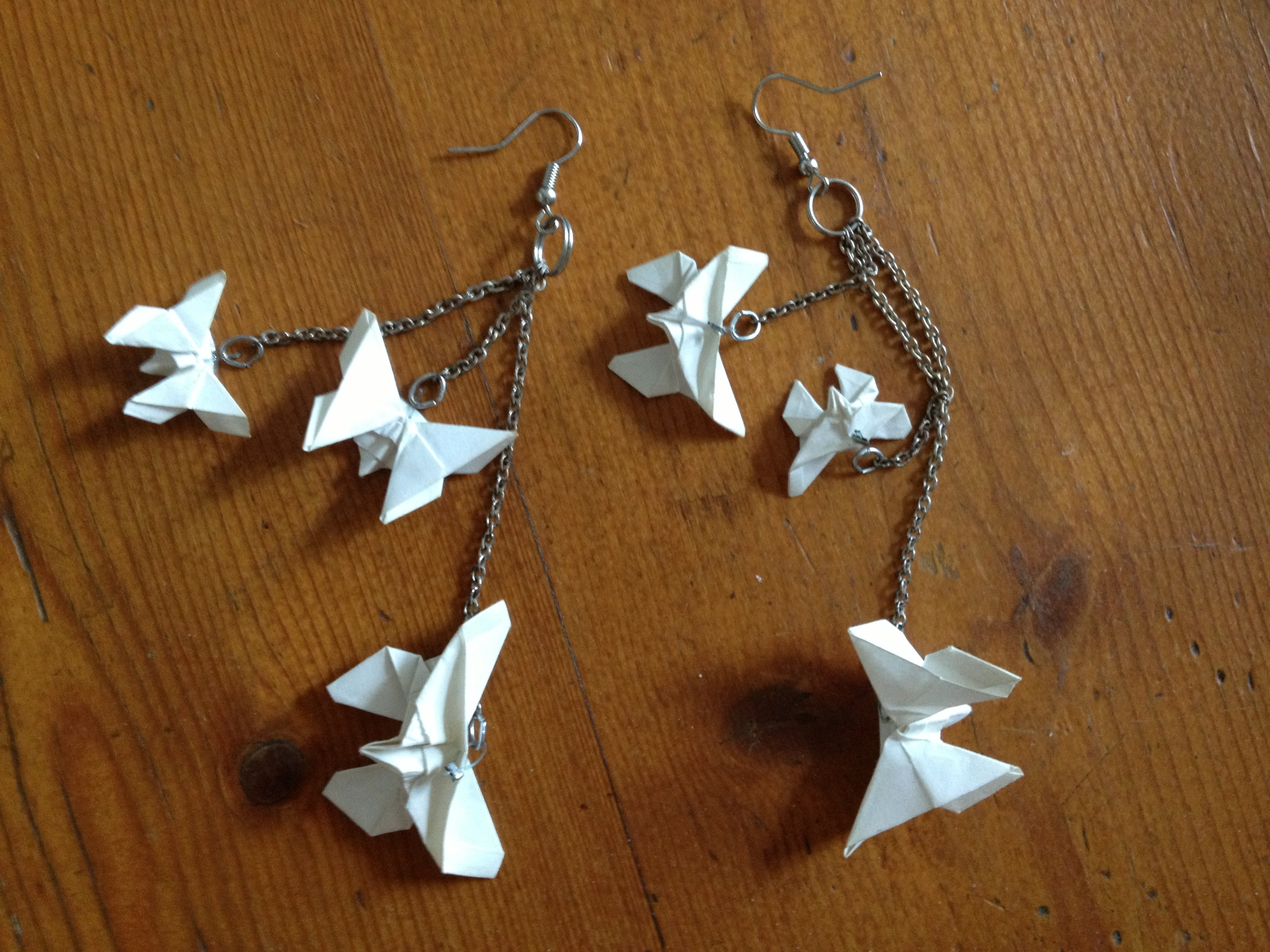 DIY Boucles doreilles origami 3 , Its her mess