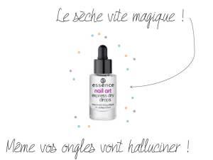 Express dry drops d'Essence - Le sèche vite magique - It's Her Mess