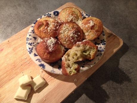 Muffins Rhubarbe Chocolat blanc - It's Her Mess (8)