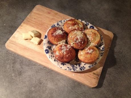Muffins Rhubarbe Chocolat blanc - It's Her Mess