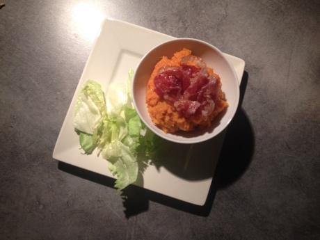 Purée de patate douce à la pancetta (4)