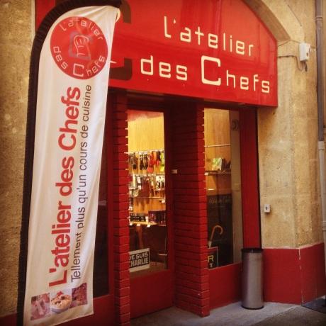Tarte fine aux oignons doux à la pomme gambas chips de jambon cru - Mon cours de cuisine à l'atelier des chefs (6)