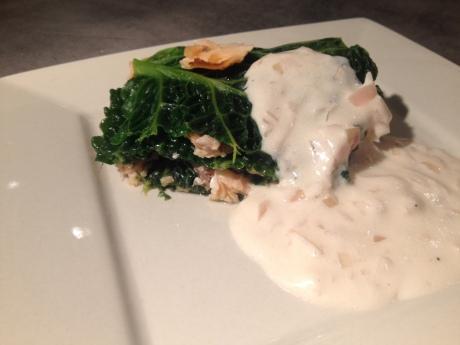 Mille feuilles saumon chou et sa petite sauce blanche - It's Her Mess (5)